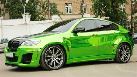 Car Wallpapers Bmw X6 by Side View Of A Green Bmw X6 Wallpaper Car Wallpapers