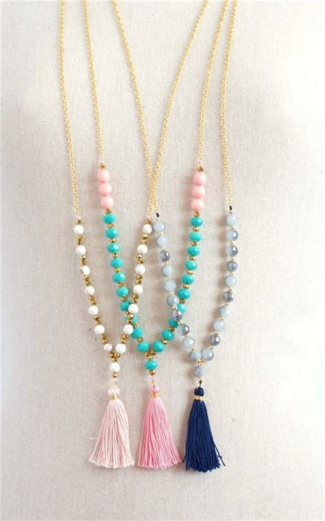 beaded tassels how to make trendy beaded tassel necklaces 3 styles chang e 3