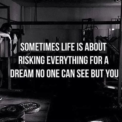 one see sometimes is about risking everything for a no