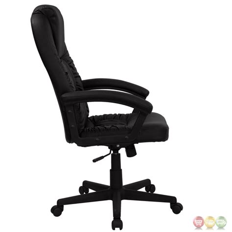 leather swivel office chair high back black leather executive swivel office chair bt