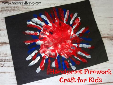 firework craft for handprint firework craft for s kitchen and things