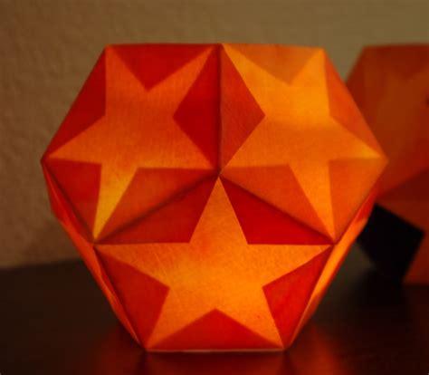 origami lantern dodecahedra origami luminaria the geometry code