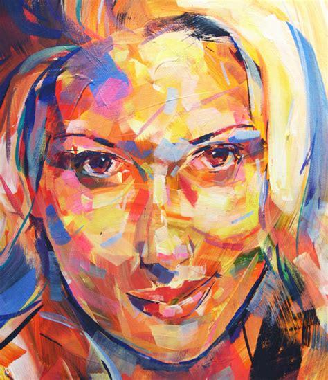 acrylic painting portrait johansson acrylic portrait painting studioseven