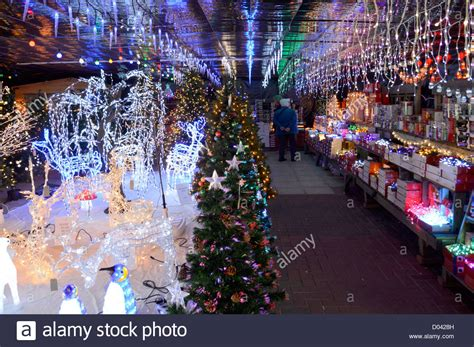 decorations sales display of illuminated decorations on sale in a