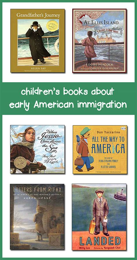 immigration picture books books for immigration lesson plans