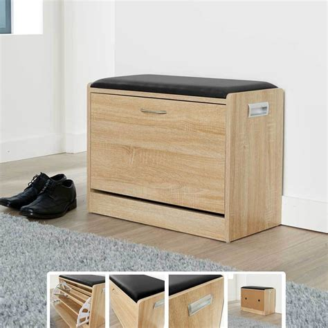 ottoman shoe storage ottoman shoe cabinet seat storage closet wooden rack