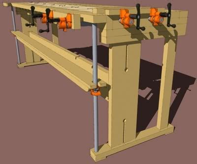 new woodworker new fangled workbench an exercise in