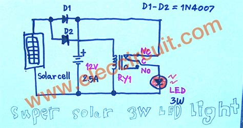 solar light schematic outdoor solar lights circuits eleccircuit