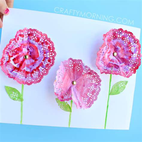 doily crafts for 3d doily flowers craft for crafty morning