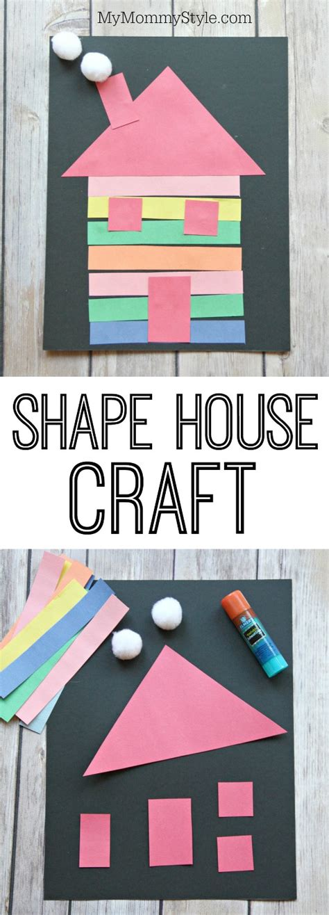 house craft for colorful shape house craft my style