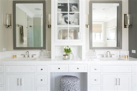 white vanity mirror for bathroom white bathroom vanity with gray mirror transitional