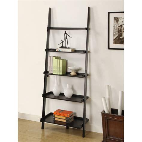 black ladder bookshelves best 22 leaning ladder bookshelf and bookcase collection