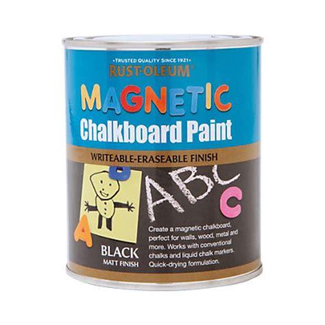 rust oleum chalk paint rust oleum magnetic chalkboard paint 750ml