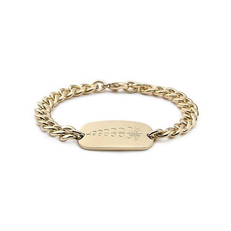 jewelry bracelets i d bracelet in 18k gold co