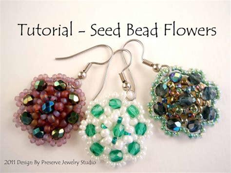 beaded flower earring patterns items similar to seed bead tutorial earring tutorial