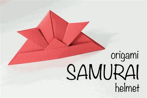 origami samurai hat origami samurai helmet tutorial
