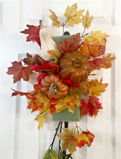 how to make a swag for front door fall swag for your front door celebrate decorate