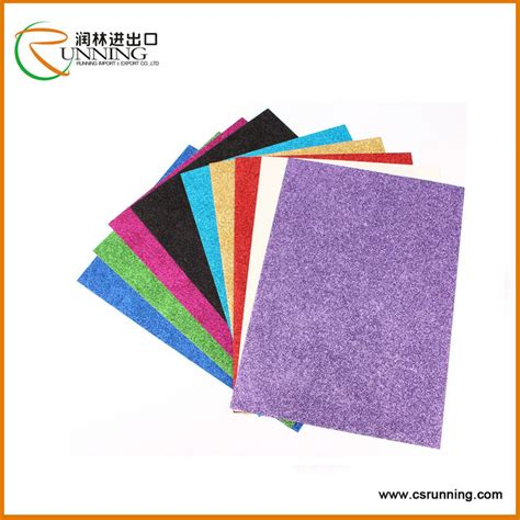 glitter paper craft high quality of invitation card glitter cardstock paper