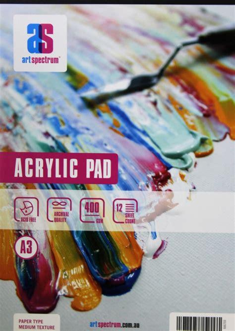 Spectrum Acrylic Paint Pad A3 400gsm