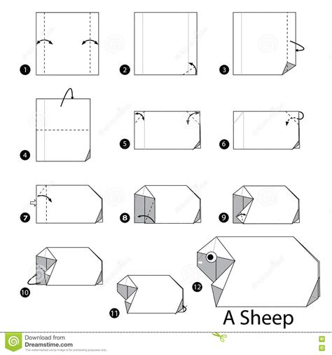 how to make a origami sheep step by step how to make origami a sheep