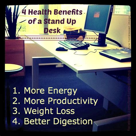 4 health benefits of a stand up desk