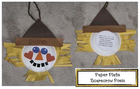 scarecrow paper plate craft 1000 ideas about scarecrow crafts on fall