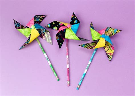 pinwheel craft for pinwheel with sparkle craft crayola