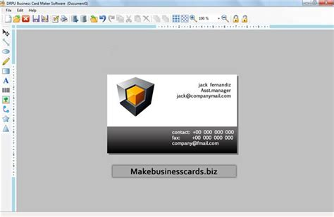 make free business cards free program make business cards free