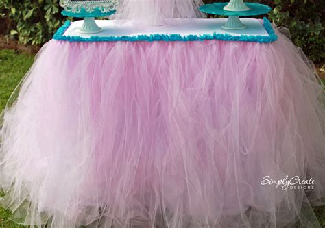 how to sew on tulle no sew tulle table skirt catch my