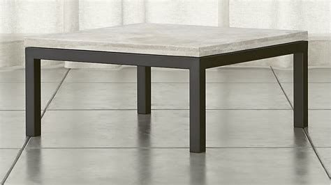 parsons coffee table crate and barrel parsons square steel coffee table with travertine top