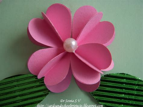 flower craft cards crafts projects punch 3 d flower tutorial