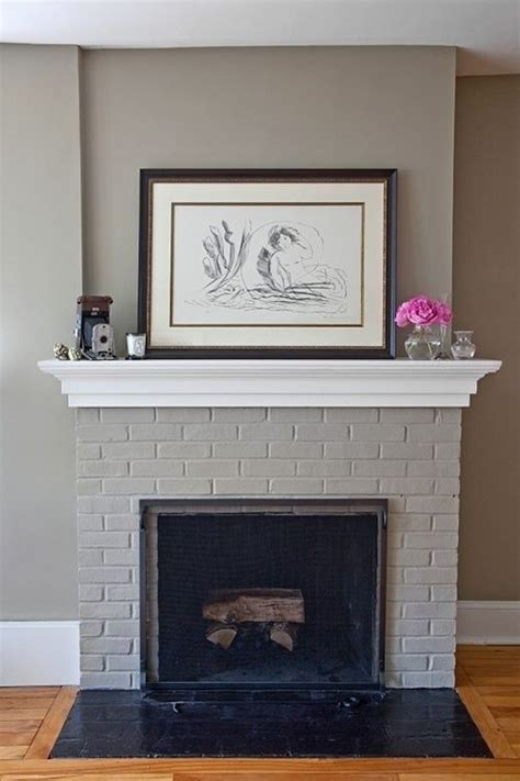 paint colors for fireplace 17 best ideas about painted brick fireplaces on