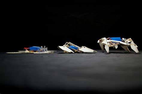 Origami Inspired Robot Transforms From Flat To 3 D