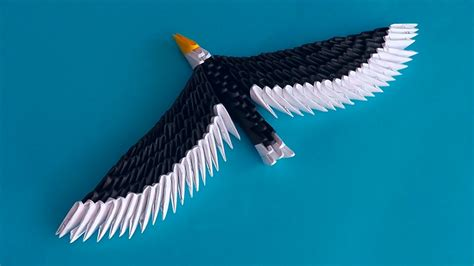 how to make origami eagle 3d origami eagle hawk assembly diagram tutorial