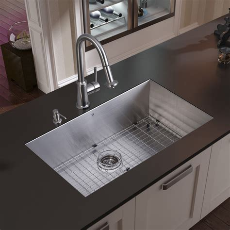 steel kitchen sinks vigo undermount stainless steel kitchen sink faucet grid