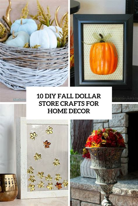 diy fall crafts for 10 diy fall dollar store crafts for home decor shelterness