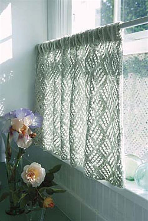 knitted curtains curtains creative knitting