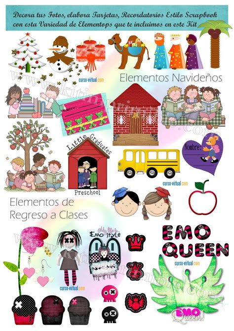 Mickey Mouse Wall Stickers elementos para scrapbookingkit imprimible