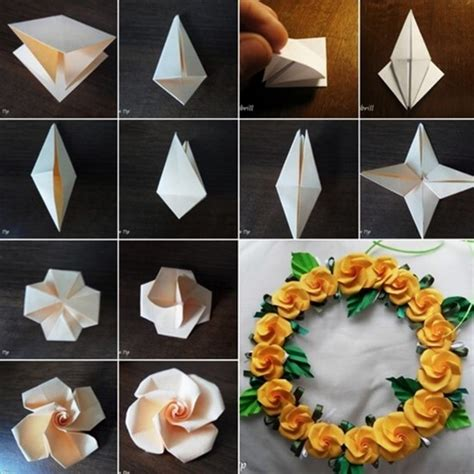 origami paper flower tutorial diy origami flowers step by step tutorials k4 craft