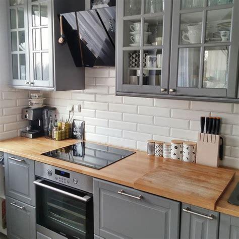 ikea grey kitchen cabinets bodbyn ikea gray lower cabinets kitchen