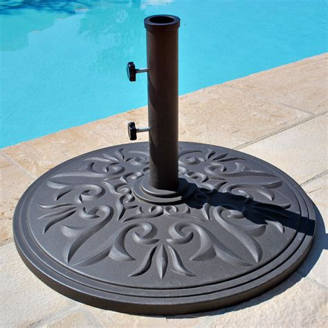 patio umbrellas stands galtech 75 lb cast aluminum umbrella base patio
