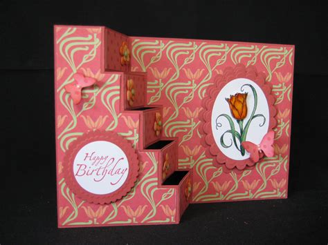 card step by step ink spirations vertical stair step card