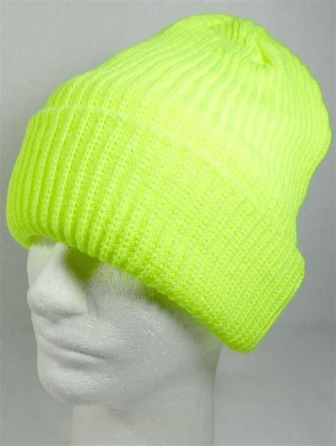 cheap knit hats wholesale winter knit cuff beanie hats solid neon