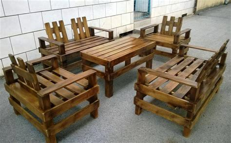 wooden pallet patio furniture set pallet furniture diy