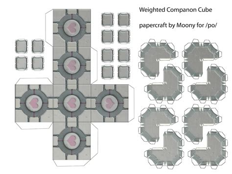 paper craft company how to make a companion cube from portal