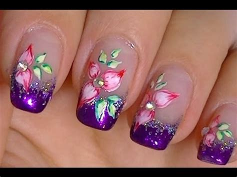acrylic paint and nail simple flower made with acrylic paint and watercolors