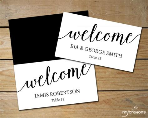 how to make name place cards diy place cards wedding black and white place cards