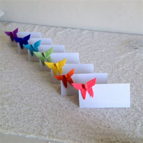 origami place cards origami place cards wedding cards paper by