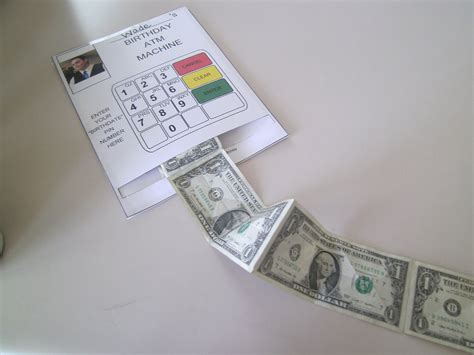 make atm card robbygurl s creations diy birthday card atm machine
