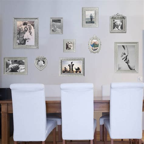 Photo Frame Wall Stickers silver photo frames wall stickers by the binary box